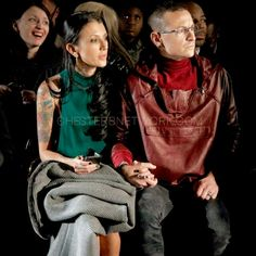 I adore this picture of Chester and Talinda Bennington holding hands! I love it when, a husband and wife hold hands in public! ks