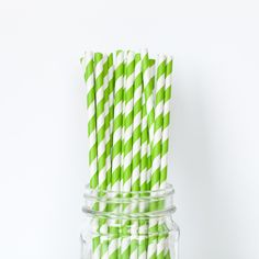 Lime Green Striped S