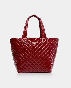 7960e81d561 MZ Wallace Quilted Cranberry Lacquer Medium Metro Tote | MZ Wallace