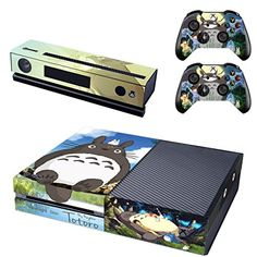 Vanknight Vinyl Decal Skin Stickers Cover Anime Totoro for Xbox One Console Kinect 2 Controllers * Read more reviews of the product by visiting the link on the image.Note:It is affiliate link to Amazon.