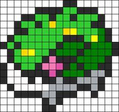 Shaymin Pokemon bead pattern
