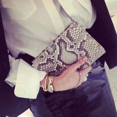 WEBSTA @ smythson - The iconic #SohoClutch in #python inspired by the original Soho diary. Regram from @oliviabuckingham #lfw #aw14 #london #newbondstreet #diary #smythson #oxfordcircus