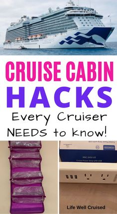 Most cruise cabins are pretty small and compact, so making the most of your stateroom space with these neat tips and tricks is so important! Use some of these cruise cabin hacks to maximize and organize your space, with children or without. Alaska Cruise Tips, Cruise Packing Tips, Cruise Travel, Cruise Vacation, Vacation Trips, Europe Packing, Traveling Europe, Vacation Deals, Backpacking Europe