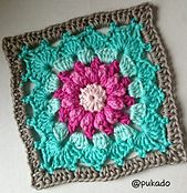 Ravelry: Crochet Mood Blanket 2014 - June Square - by Pukado pattern by Patricia Stuart