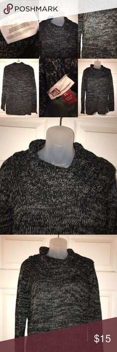 cowl neck sweater sweater is very warm and comfy, worn once, slight sparkles in the sweater, can appear see through so I would wear a tank underneath lei Sweaters Cowl & Turtlenecks