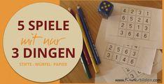 5+ Mathe-Würfel-Spielideen - Kinderbilden Office Phone, Happy Kids, Landline Phone, Language, School, Amelie, Pouches, Designer Handbags, Montessori