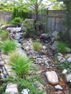 Wild Garden Landscaping Dazzling Cool Backyard Design for Modern House: Traditional Landscape Model Of Home In Asian With Untidy Rocks And Pebbles Setting With Grow. Backyard Stream, Backyard Water Feature, Ponds Backyard, Backyard Landscaping, Landscaping Ideas, Inexpensive Landscaping, Landscaping Melbourne, Country Landscaping, Landscaping Software
