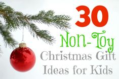 This holiday season we are giving our children thoughtful gifts for Christmas. Here are 30 non-toy Christmas gift ideas for kids we're considering.