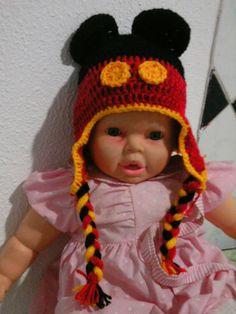 touca de crochê mickey mouse compre pelo site www.crocheprabebevendas.com.br
