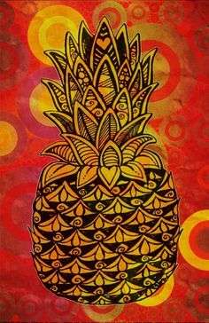 Pineapple Love Art Print