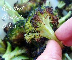 Easy roasted broccoli bites via @Girls Gone Sporty TM