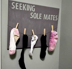 Lost sock display, so clever! | 31 Ingenious Ways To Make Doing Laundry Easier