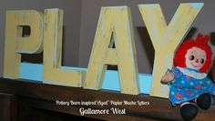 "gallamore west: ""Aged"" Papier Mache Letters- Pottery Barn inspired"