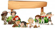 Blank Banner, Crafts For Kids, Diy Crafts, School Clipart, Scout Camping, Vector Photo, Displaying Collections, Happy Kids, Banner Design