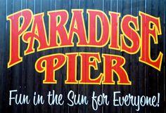 Paradise Pier sign
