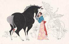 primer diseño de Mulan de Disney