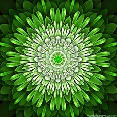 F&S Diamond Painting Store Green Mandala Art Sculpture, 5d Diamond Painting, Mandala Pattern, Mandala Coloring, Land Art, Green Flowers, Fractal Art, Sacred Geometry, Images