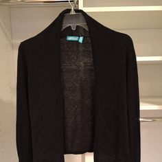 Black Cotton Cardigan Black Cotton Cardigan Can tie at waist Size M but can fit a small Sweaters Cardigans