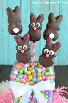Chocolate Covered Marshmallow Bunnies on MyRecipeMagic.com