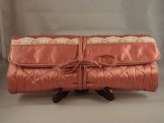 Vintage Pink Travel Jewelry Bag on Etsy, $9.99