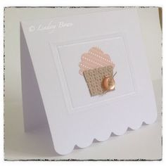 Stampin Up, Cupcake builder punch, CAS cards- PUNCH out of embossed paper