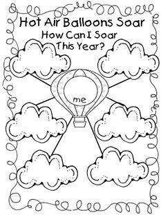 First Grade Wow: Hot Air Balloon Unit!-goal setting - First Grade Wow: Hot Air Balloon Unit! Hot Air Balloon Classroom Theme, Classroom Themes, Future Classroom, Beginning Of The School Year, First Day Of School, Goal Setting Worksheet, Air Ballon, School Themes, School Ideas