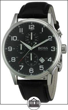 Hugo Boss Boss Black - Reloj analógico de caballero de cuarzo con correa de piel negra de  ✿ Relojes para hombre - (Gama media/alta) ✿