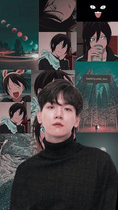 baekhyun and yato. Chanyeol, Kyungsoo, Baekhyun Fanart, Kpop Wallpapers, Animes Wallpapers, Cute Wallpapers, Wallpaper Winter, K Wallpaper, Wallpaper Samsung