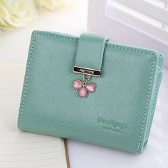 new 2016 women wallets famous brands lucky clover leather women cash purse wallet female small coin purse pockets clutch money