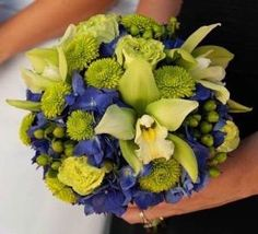 cobalt blue and lime green <3 by oldrose
