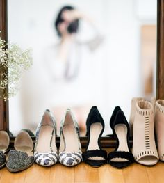 My favorite shoe brand: Loeffler Randall! Cutout heeled booties, black heeled sandals, classic black and white pointed pumps and very nice flats.
