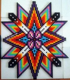 Colorful star hama perler beads by DECO.KDO.NAT