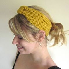 Crochet Headwrap The Inbound Headwrap in Sunshine by SalemStyle