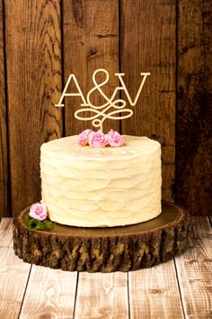 Custom Wedding Cake Topper  Birch by BetterOffWedRustics on Etsy, $69.00