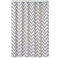 Home Classics Chevron Fabric Shower Curtain Used to make curtains and valances but replaced with real drapes in Aug. 2015 when we got cellular shades for her room