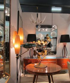 20th century decorative furniture, lighting, mirrors & objects, from Fiona McDonald at The Decorative Fair