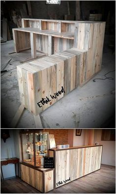 Give your house outdoor areas with the eye-catching effects by offering with the sight of keeping pallet counter table in it. This idea of wood pallet is perfect for having an evening coffee with the guests. You can even make it part of the perfect looking bar counter that would look so classy.