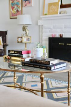 Easy coffee table style with books & succulent