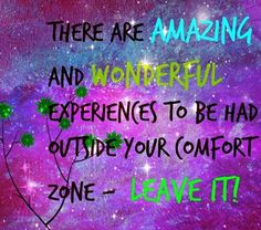 what does out of your comfort zone look like?