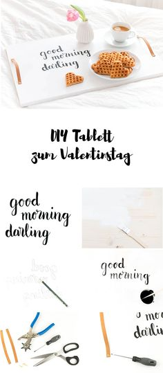Anleitung für ein einfaches DIY Tablett - perfekt fürs Frühstück im Bett am Valentinstag