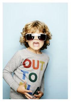 cool kid having fun!