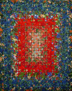 A Tropical Garden blooming nine patch at Blue Island Quilts