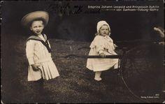 Prince Johann Leopold (1906-1972) et la princesse Sybille de Saxe-Cobourg Gotha (1908-1972) enfants de Charles-Edouard duc de Saxe-Cobourg et Victoria-Adélaïde de Schleswig-Holstein