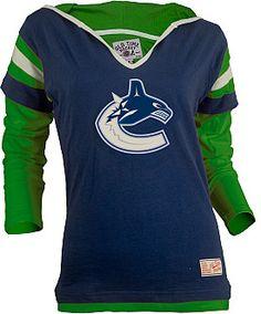 Old Time Hockey Vancouver Canucks Women's Marte Fooler Hood T-Shirt  - Shop.NHL.com