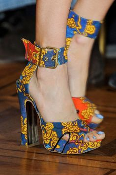 Vivienne Westwood is famous for her prints and colorful collections. would you wear these at a pageant?     Spring 2013 Shoes | Paris Fashion Week