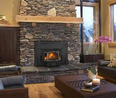 Wood Stove insert for fireplace — so much more energy efficient! Wood Stove insert for fireplace — so much more energy efficient! Propane Fireplace, Home Fireplace, Fireplace Remodel, Modern Fireplace, Fireplace Design, Fireplace Ideas, Gas Fireplaces, Pellet Stove Fireplace Insert, Wood Stove Decor