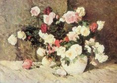 Trandafiri - Stefan Luchian Impressionism, Wikimedia Commons, Artwork, Flowers, Paintings, Oil, Art, Idea Paint, Work Of Art