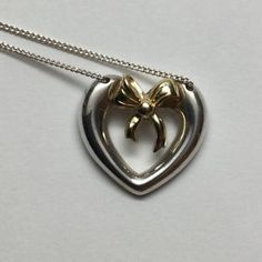 Tiffany-Co-18K-Yellow-Gold-And-Sterling-Silver-Heart-Ribbon-Bow-Necklace-1991