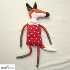 NAUTICAL FOX JEREMY who loves the summer time by NATURALLIVINGpl