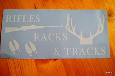 Outdoor Vinyl Deer Hunting Decal by BarkIt on Etsy https://www.etsy.com/listing/220025791/outdoor-vinyl-deer-hunting-decal